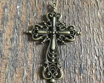 ornate cross charms