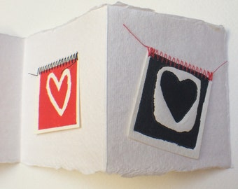 Card fold out - heart Valentine valentain