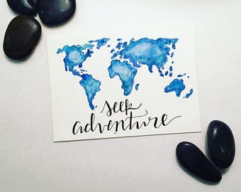 "8"" x 10"" print- Seek Adventure"