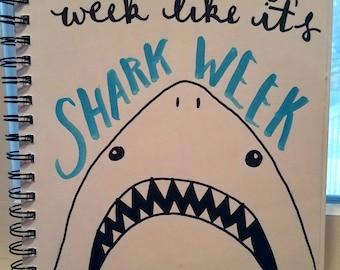 """Shark Week - 8x10"""" PRINT"""