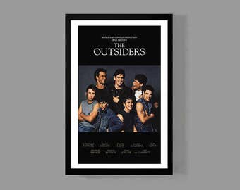 The Outsiders Movie Poster Stay Gold Print - Ponyboy Greasers - Cult Classic Teen Drama Film 80's S.E. Hinton