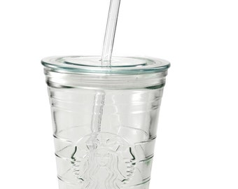 Glass Drinking Straws - for Starbucks Vende cups and other small holed lids
