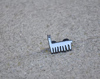 Llama Limo Pin Soft Enamel Pin Original Art Absurd Animal Goofy Humorous Brooch Badge Pin