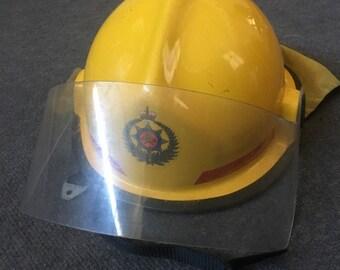 Obsolete NZ Fire Service Helmet - Emergency Service Helmet