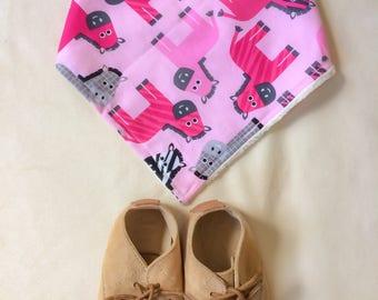 Pony bandana bid-horse dribble bib-equestrian- pony clothes - horse clothes-pink ponies - girls clothes-baby girl clothes-bandini bibdana -