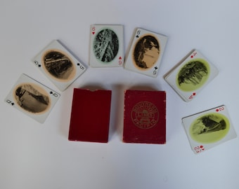 Vintage Southern Pacific Playing Cards with Western Scenes