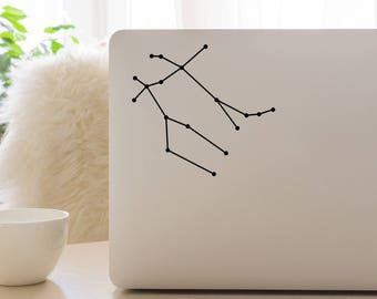 Gemini Constellation, Macbook Decal, Apple Macbook, iPad and other laptop stickers, Mac Decal, iPad Decals, iPad stickers