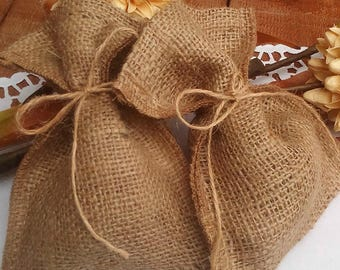 Favor Bags - Burlap Wedding Favour Bag- Rustic Favor Bag - Rustic Wedding Favor - Favor Bag - Gift Bag - Rustic Wedding - Set of 25