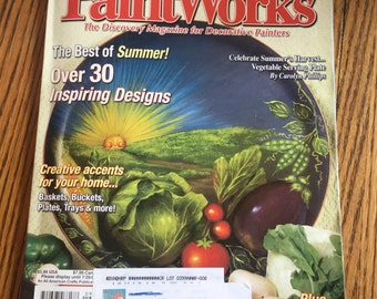 Paintworks Magazine for Decorative Painters Sept 2003 Tole Painting Best of Summer 30 designs Folkart Craft Supply