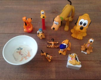 Lot of Vintage Pluto Toys and Collectibles, Lot #2, Walt Disney, Pluto