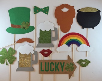 St. Patrick's Day Photo Booth Props (12 pieces)