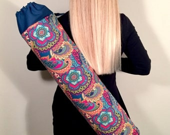 Yoga Mat Bag, Yoga Tote, Yoga Mat Carrier, Yoga Bag, Yoga Mat Bag with Optional Key Clasp