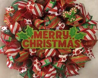 Christmas wreath red and green Christmas wreath Christmas Wreath, Christmas Wreaths, Winter wreath, x-mas wreath, x-mas