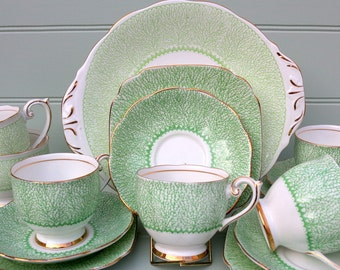 Vintage  Deco Bell China Tea set for 6
