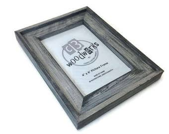 rustic barn wood frame 4x6 rustic frame farmhouse picture frame country decor frame