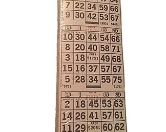Vintage Paper Bingo Cards Sealed    Vintage Arrow Capitol Capital Game Bingo Cards    Authentic Original New Old Stock (NOS) Printed in USA