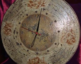 "Handmade wall clock ""Angels"" in decoupage technique."