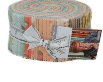 "Corner of 5th and Jelly Roll by Sandy Gervais for Moda Fabrics (2.5"" x WOF strips)"