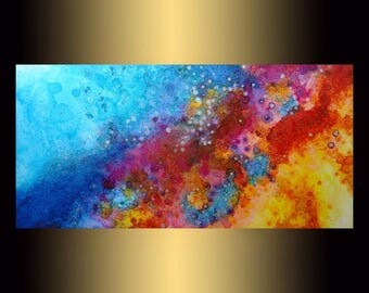 Contemporary Art | Original Abstract Colorful Painting on canvas | Modern fine art |  bedroom painting | Painting for Living Room, wall art