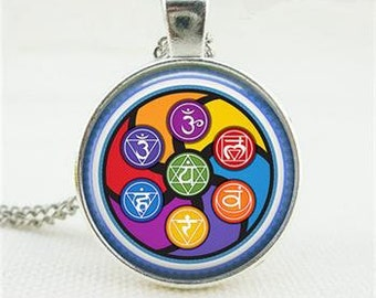 Vintage Yoga Chakra Necklace