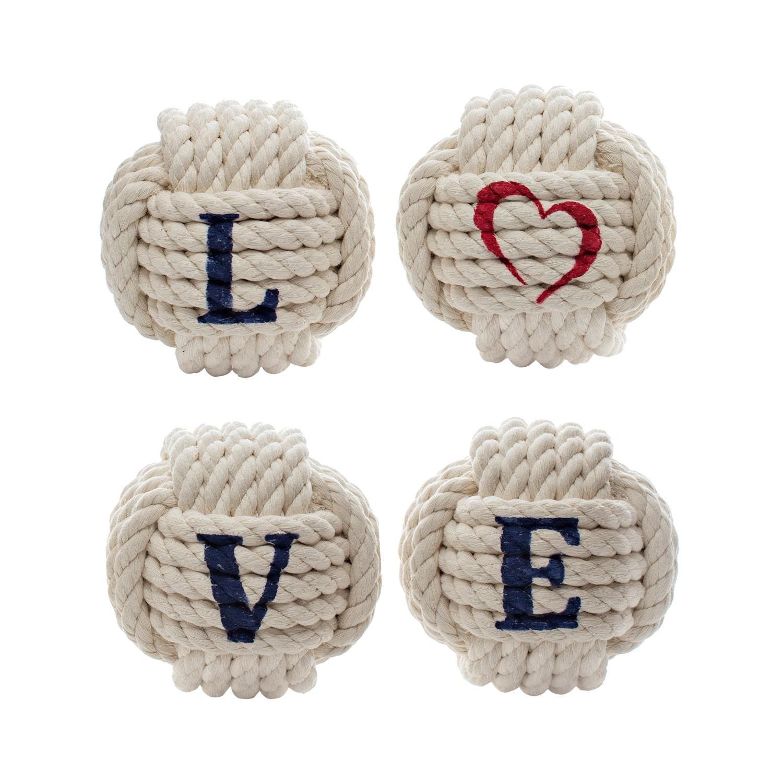 Nautical love sign nautical valentine decor rope knot decor
