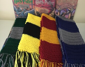 adult Harry Potter Scarf, Gryffindor scarf, Ravenclaw scarf, Hufflepuff scarf, Slytherin scarf, Hogwarts scarf, Harry Potter costume