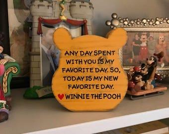 Winnie the Pooh Quote | Winnie the Pooh Wood Block | Disney Wedding | Winnie the Pooh Decor | Winnie the Pooh Nursery | Disney Friendship