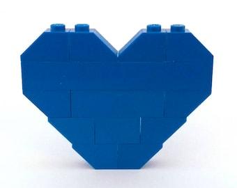 LEGO® blue heart brooch - jewelry