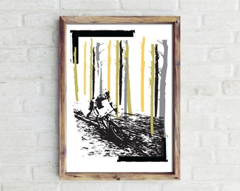 The Race Is On...  Cycling Print.  Print for Cyclists