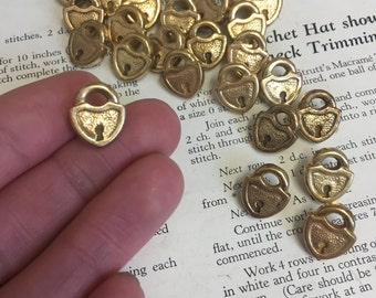Vintage Padlock Buttons (set of 2)