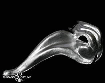 Metallic Stallion Mask - Silver
