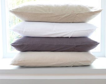 Linen Pillowcases, Linen Pillow Cover, Linen bedding, Pillow Cover. Stonewashed Linen. Hygge