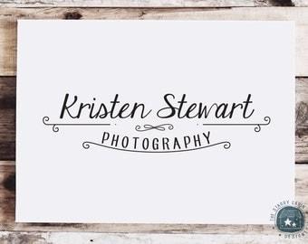 Hand Drawn Premade Logo Design - Customizable - Ornamental - Flourishes - Photography - Vintage Sign - Script - Typography - Lines - Swirl