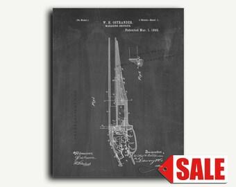 Patent Art - Magazine Shotgun Patent Wall Art Print