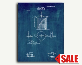 Patent Print - Condensed Milk Cup Patent Wall Art Poster
