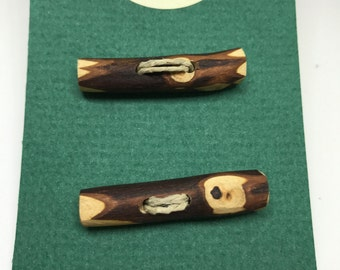 Pair of toggle buttons, handmade, unique! Free shipping on orders of 10 dollars or more. See Details.