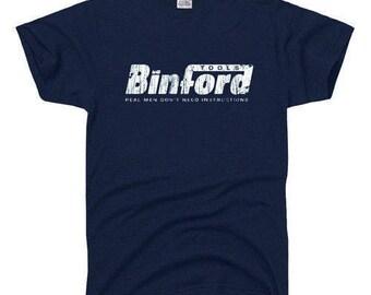 Binford tools Funny Home Improvement TEE Tool Time Retro Tim 90s TV t-shirt L
