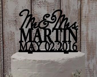 Cake topper Mr Mrs Names-Wedding accessoires, wedding cake, wedding, cake figure
