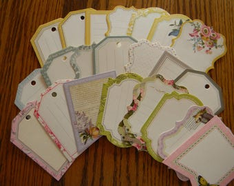 Set of 44 Anna Griffin Pre-Printed Tags (KIT 156)