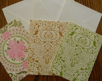 Set of 3 Anna Griffin Card Bases With Envelopes (208)