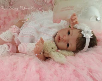 "MORGAN custom reborn doll 19""~ AC Tummy Plate ~ Free US Ground Shipping"