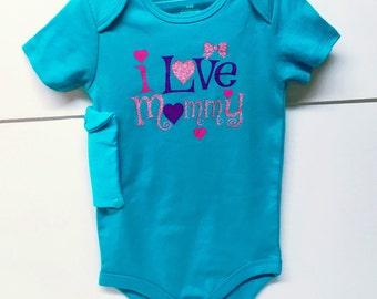 Insulin pump bodysuit / 24 mo. / I love Mommy