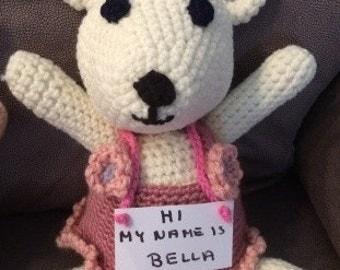 Handmade Teddy Bear Female Girl Bella - desertgoodies.com