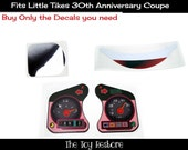 Part of 30th set:  New Replacement Decals Stickers for 30th Anniversary Little Tikes Tykes Cozy Coupe Has Eyes Car