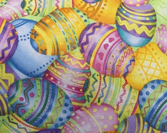 Medium Sized Easter Throw Pillow, Colorful Decorated Easter Egg Pillow
