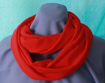 Infinity Scarf, Orange, Chiffon