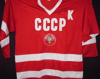 Fetisov #2 USSR CCCP Russian Hockey Replica Jersey Russia embroidered