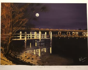 Moon River - Nowra - digital painting