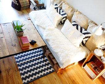Beautiful handmade reclaimed wood and steel coffee table