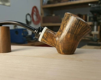 Bent Poker tobacco pipe smoking pipe Davis Pipe handmade